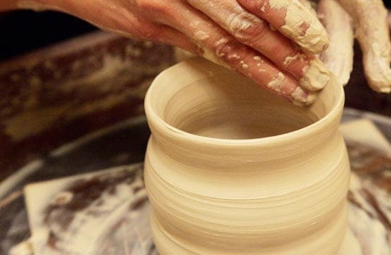 Art in our pottery studio is one activity offered during our spiritual retreats.