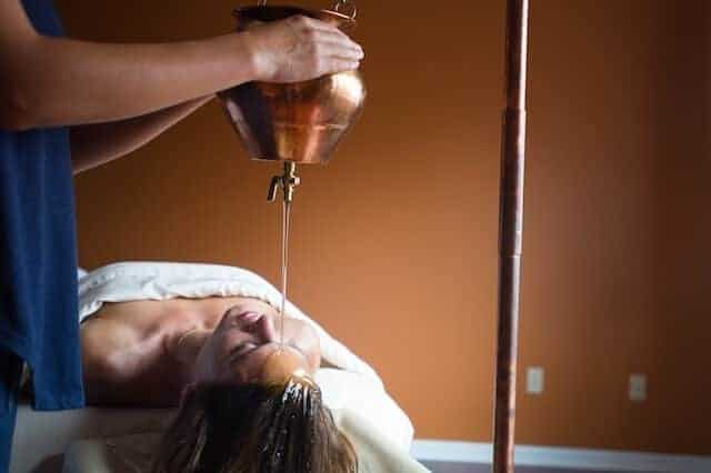 Panchakarma wellness treatment shirodhara at Shankara Ayurveda spa.