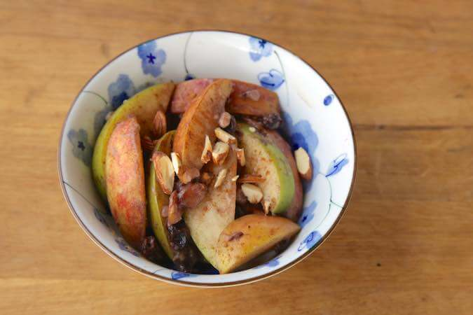 Vegan baked apple recipe with Ayurveda
