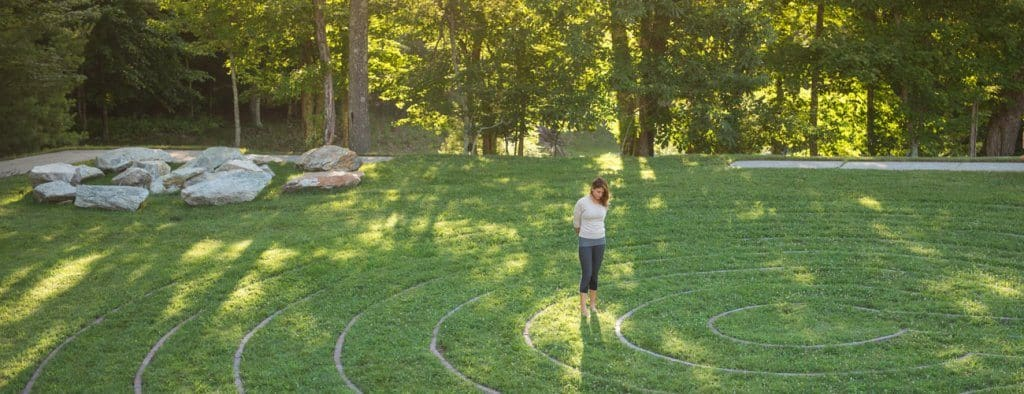 Outdoor labyrinth in Boone, NC
