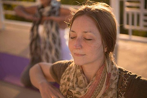 Happiness Program Participant Breathing