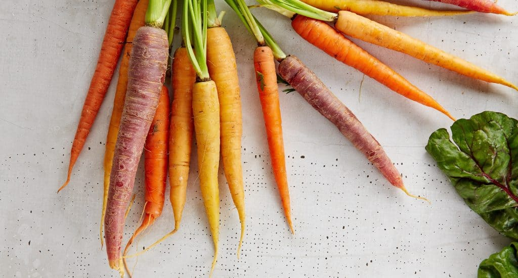 Raw Carrots for Raw Food Diet